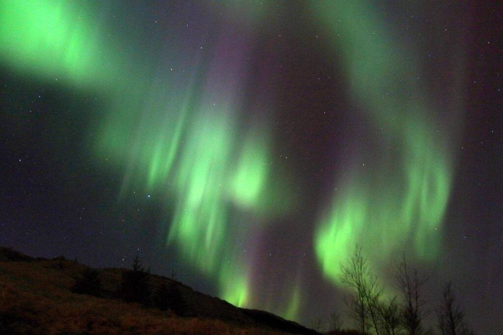 Kaldakinn is the perfect location for seeing the northern lights, far away from light pollison