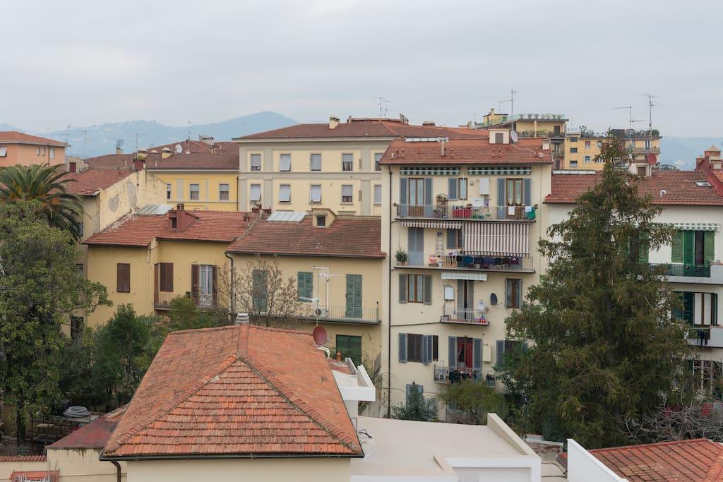 panorama sui tetti di Firenze e Fiesole