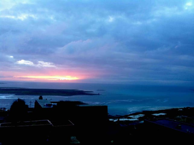 sunrise from the terrace towards east