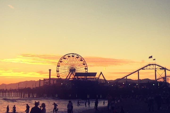Venice Beach, 2 min walk away!