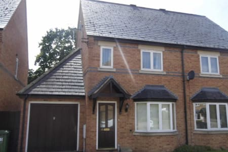 Modern Warwickshire two double bed-roomed house.