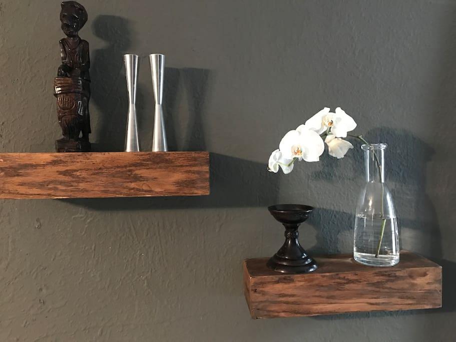 Interior Design Inspiration: Glass, woods, chromes, whites and greys