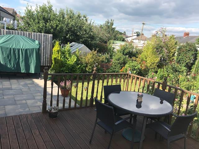 Rear garden to relax in