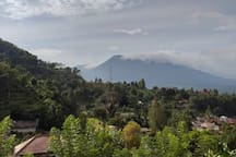 This is the view of Mount Pangrangon from a distant, from villa Hakim 4, in the morning!