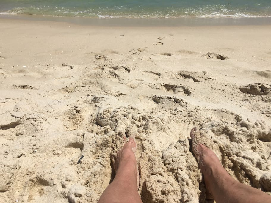 Nothing better than feeling the sand between your toes,