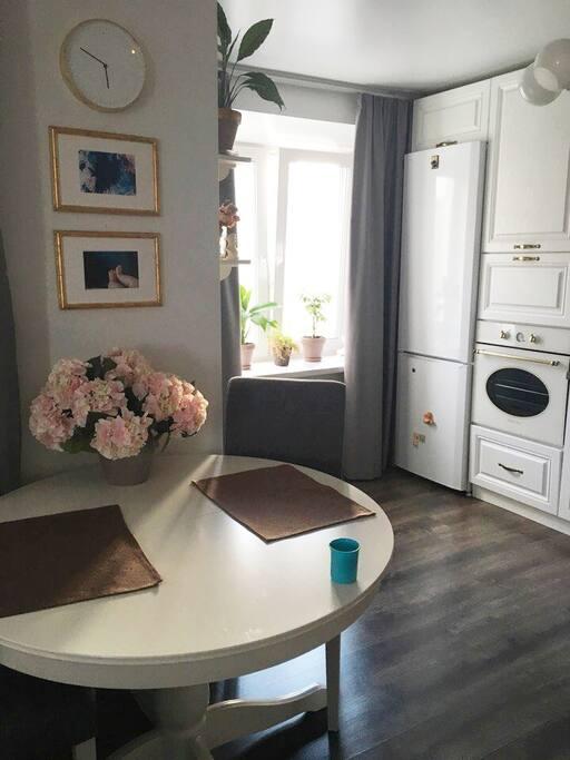 гостинная- кухня living room- kitchen