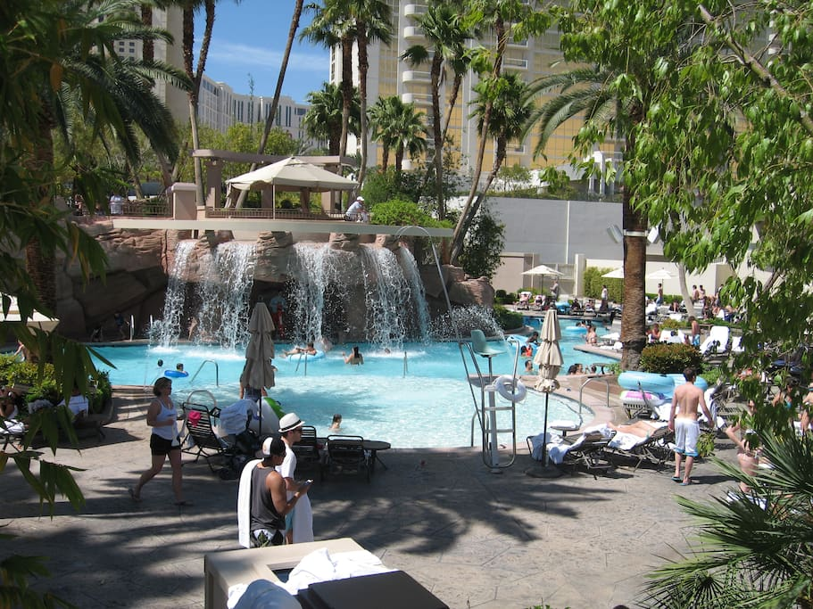 Mgm signature 2br 3ba penthouse right on the strip - Hotel with swimming pool on every balcony ...