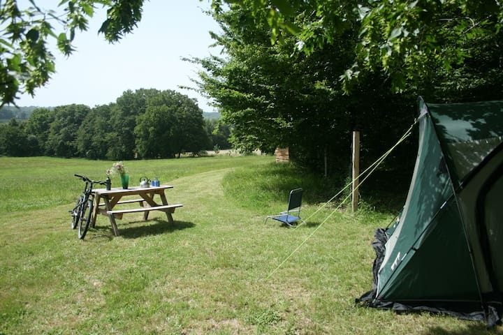 Charme  Camping Pitch at Bellessise. Use own tent.