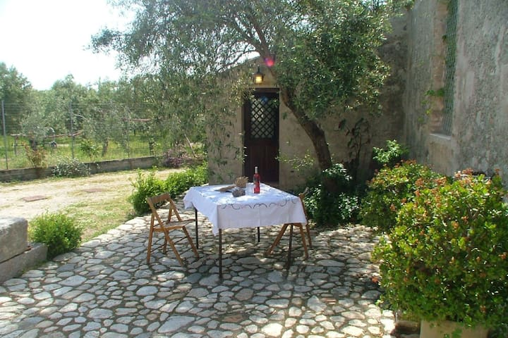 Holiday home on estate, surrounded by citrus and olive trees, 7km from the sea.