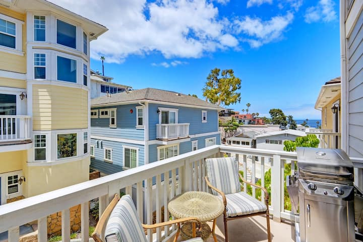 Townhouse w/ Balconies, Ocean Views, WIFI, Dual Master Suites - 227 Beacon A