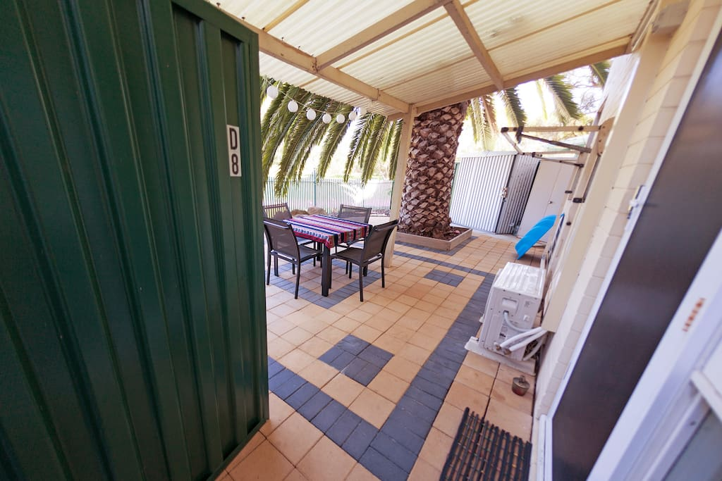 Be welcomed on entry into your large courtyard with patio...