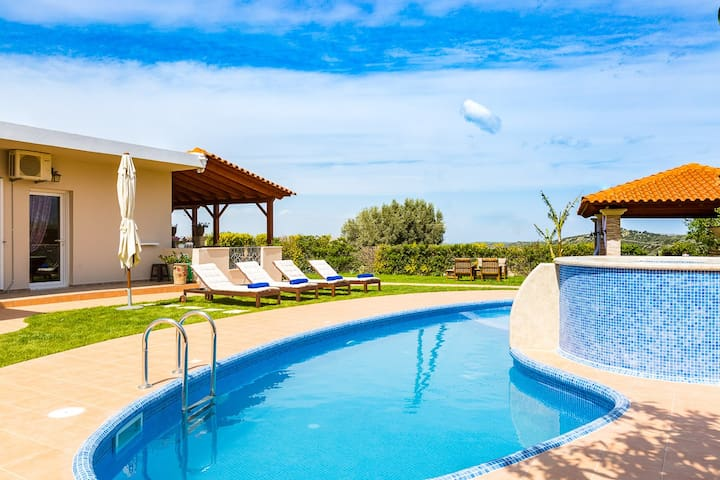 The terrace boasts a private swimming pool, children's pool and outdoor Jacuzzi!