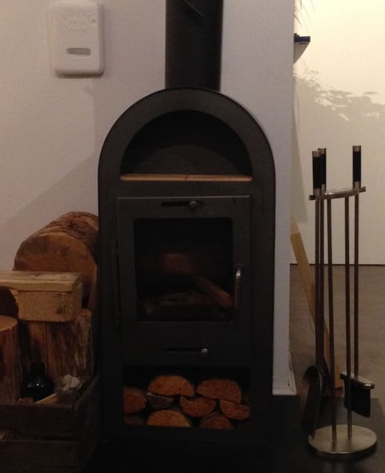 Kamin im Wohnbereich  (fire place in the living room area)