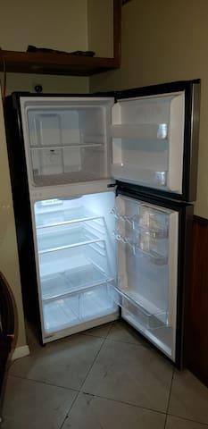 10.1 cubic feet fridge with freezer.