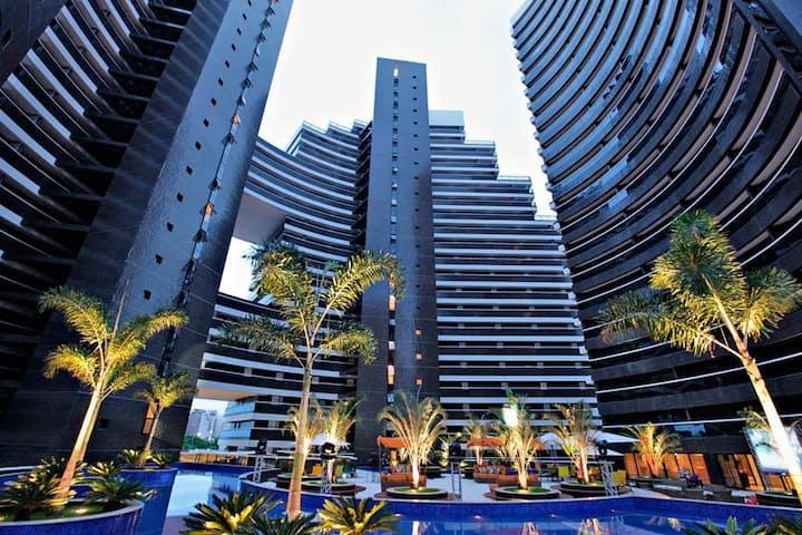 Apartamento aconchegante no Landscape Beira-Mar