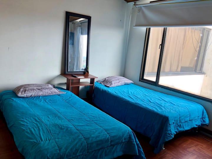 Cómoda habitación para estudiantes o profesionales