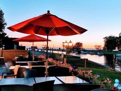 Lakeside luxury resort suit