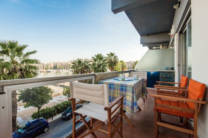 Great View apartment with 2 bedrooms in Marina - Pireas - Departamento