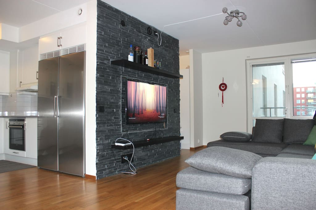Living room with a 55-inch TV