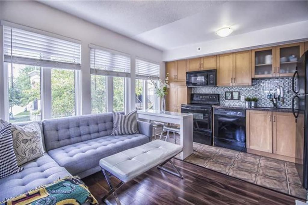 Bright and Cozy 1 Bedroom Townhouse in Liberty Village