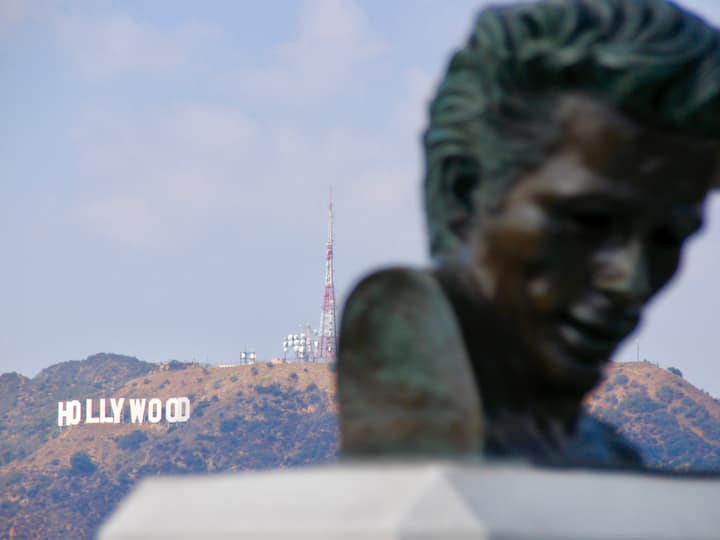 Hollywood Sign with James Dean.