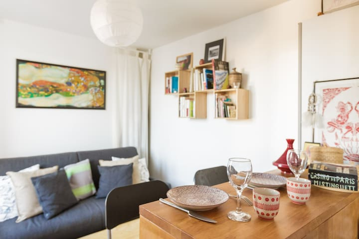 Charming studio apartment with view - Paris - Wohnung