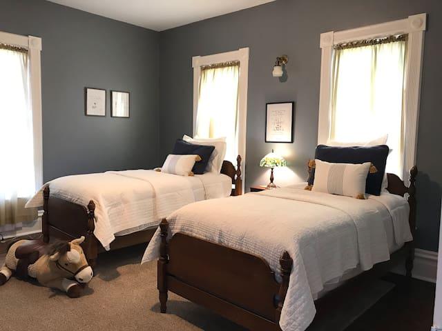 Bedroom 4 -  second floor- two single beds
