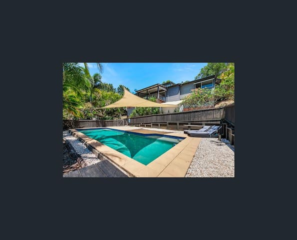 beautiful green leafy retreat with 12 m pool - Doonan - Casa