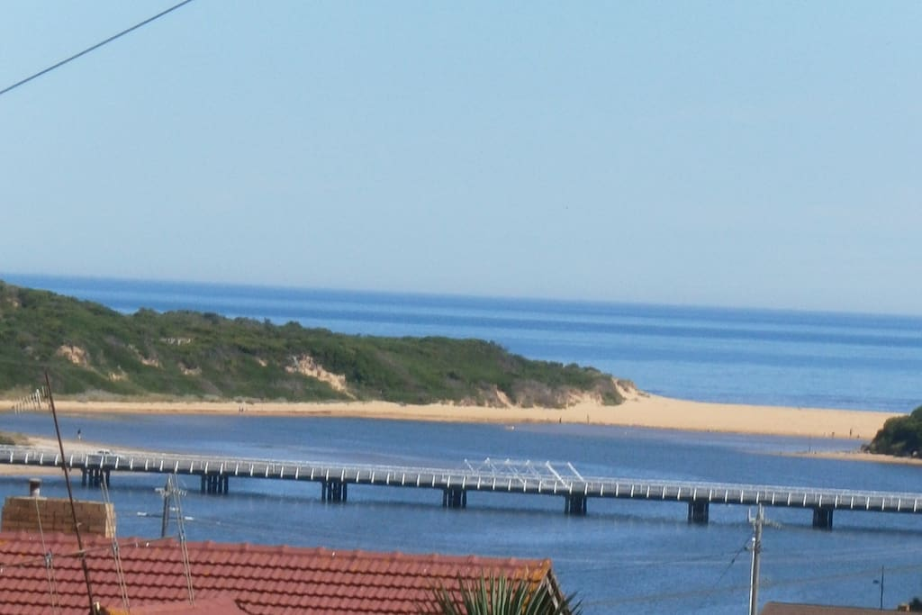 The beautiful Hopkins river mouth view from the studio