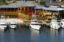 Boshamps Seafood and Oyster House.  Easily one of Destin's best waterfront restaurants.  Only 1.6 miles from Mojo!