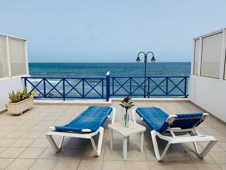 """Holiday Apartment """"Callao Beach 7"""" with Sea View, Terrace & Wi-Fi; Pets Allowed"""