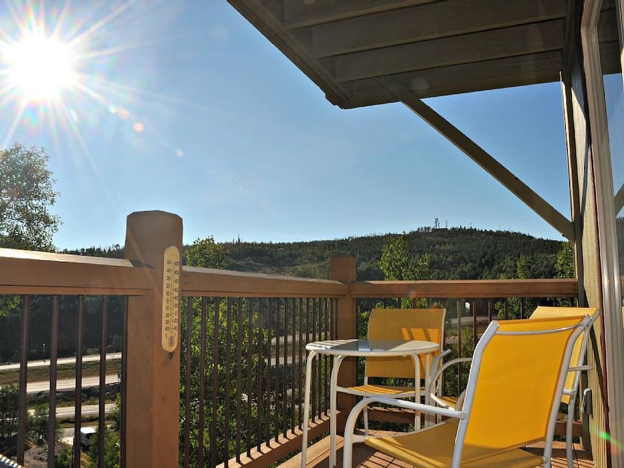 Enjoy your coffee or happy hour from the beautiful and spacious deck