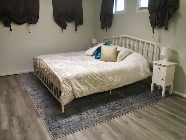 King Bed- room includes 2 full closets and built in drawers