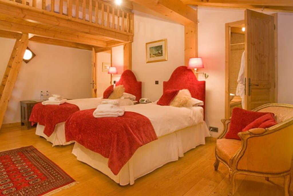 A Bedroom - twin beds with ensuite. Can become a Double plus Z BED.