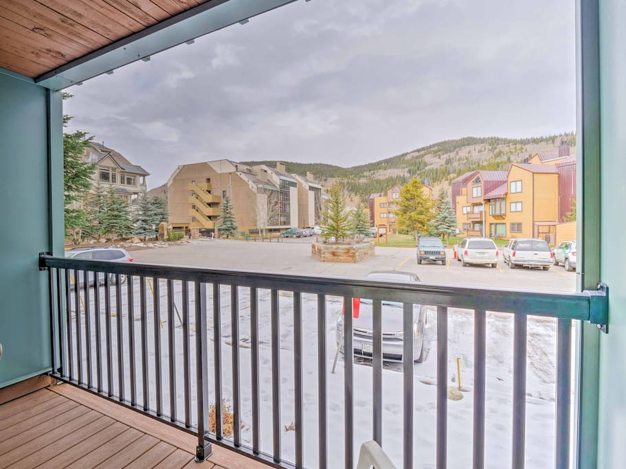 You'll be gifted to beautiful mountain views from the private patio.