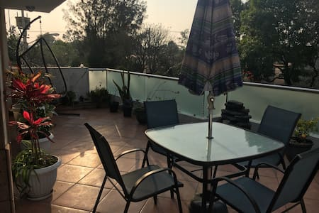 2nd Floor Apartment w sunny terrace - Πόλη του Μεξικού - Διαμέρισμα