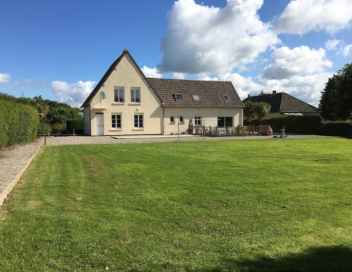 Large house ideally located for exploring Normandy
