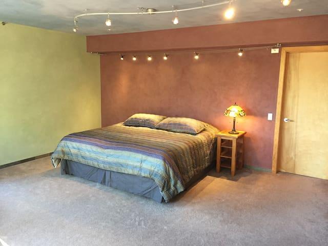 Your bedroom (king bed arrangement)