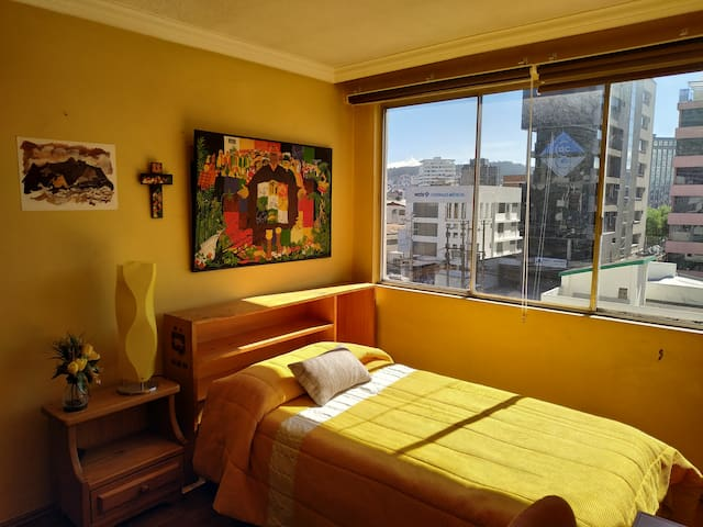 Habitación en departamento bien ubicado