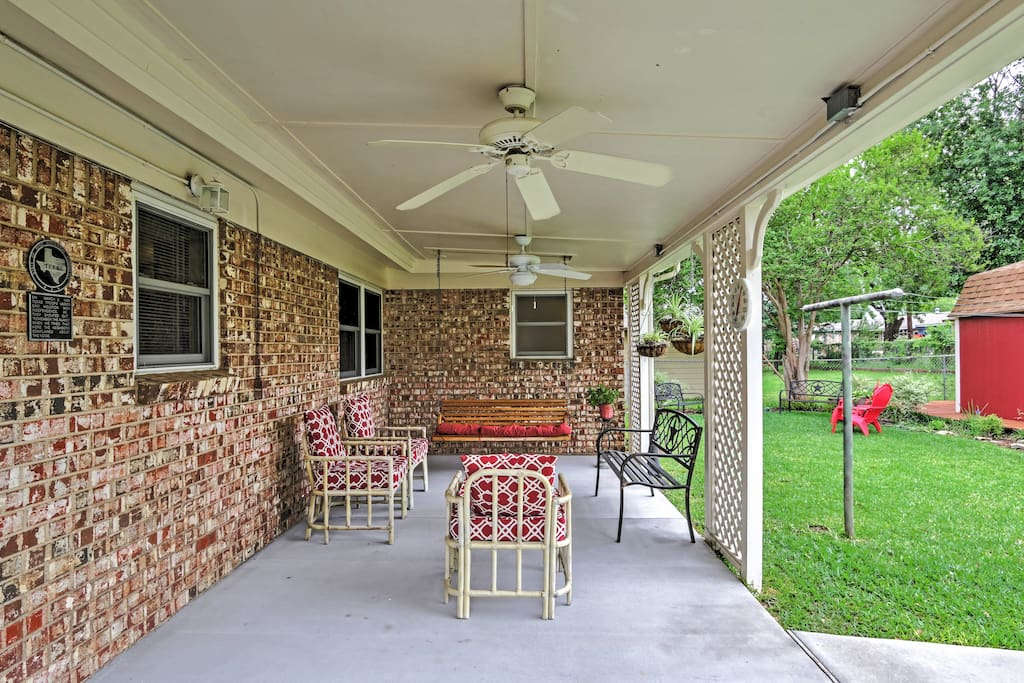 Spend your evenings on the delightful covered patio.