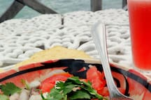 Try the local fresh seafood for which Puerto Juarez is famous for. Ceviche, lobsters and more!