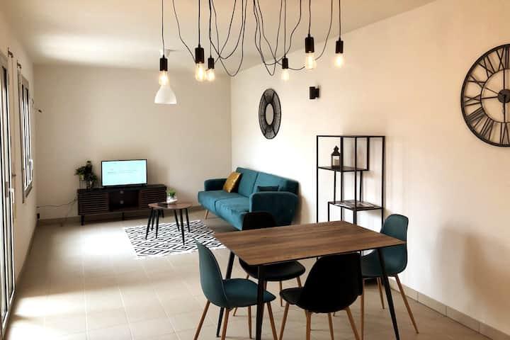 Appart 2 chambres hyper centre avec terrasse