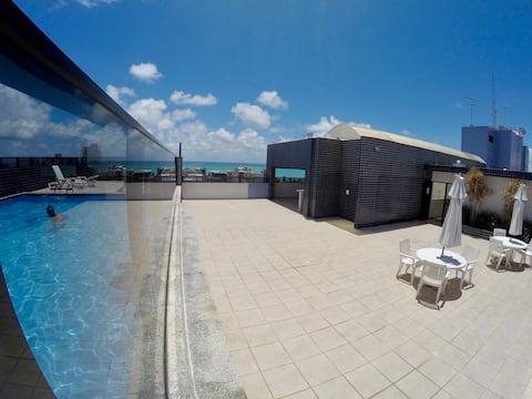 Apartamento a 200m da Praia Ponta Verde