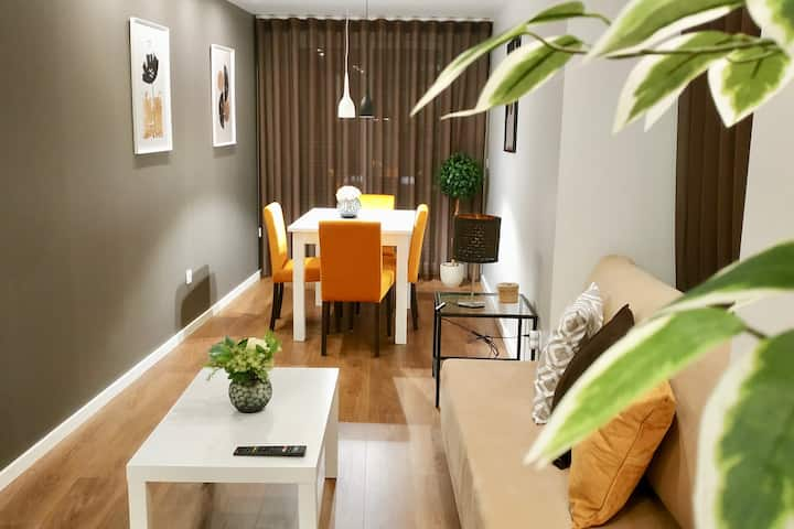 Spacious & Stylish *NEW* 1BD | Braga Center |
