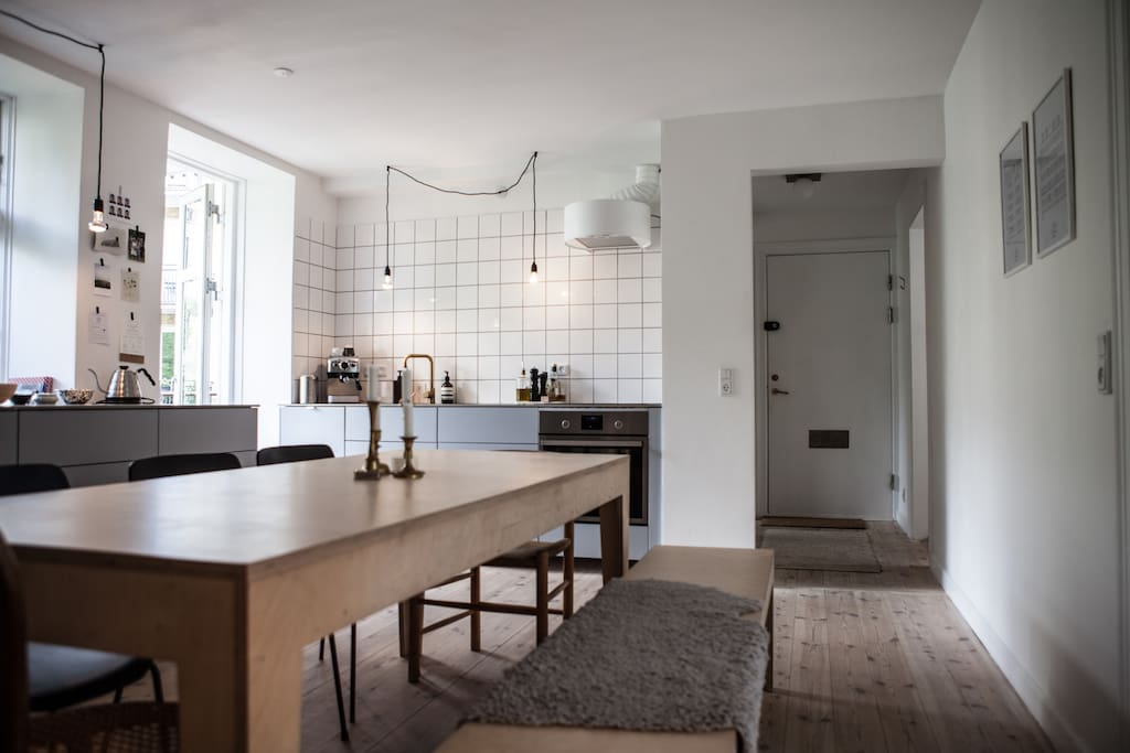 The spacious kitchen