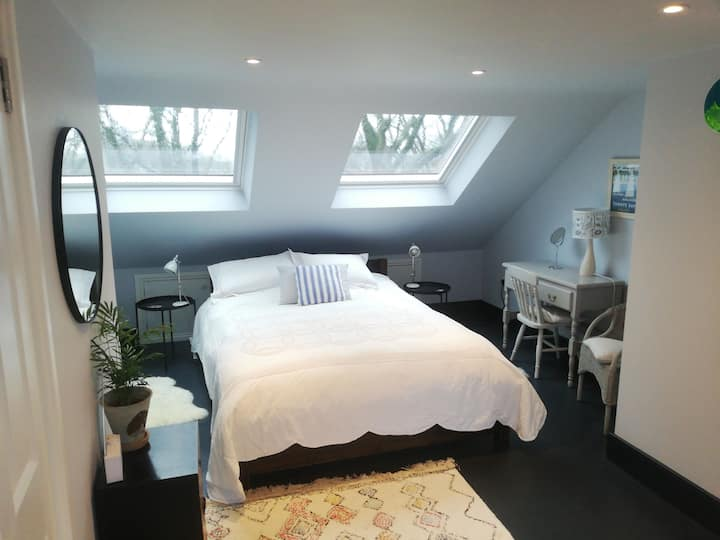 Double ensuite room in period house near Greenwich