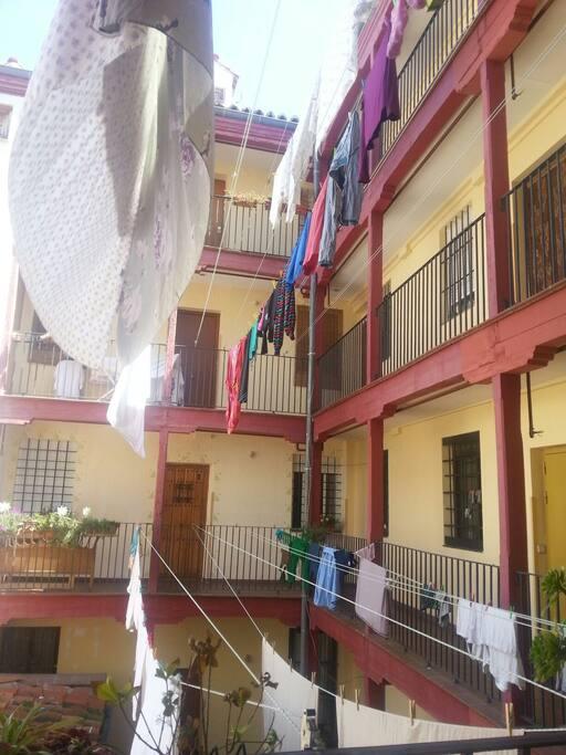 "patio inside the building ""corrala"""
