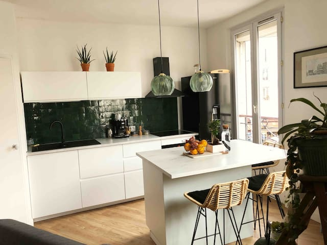 Appartement cozy, proche Paris 19ème