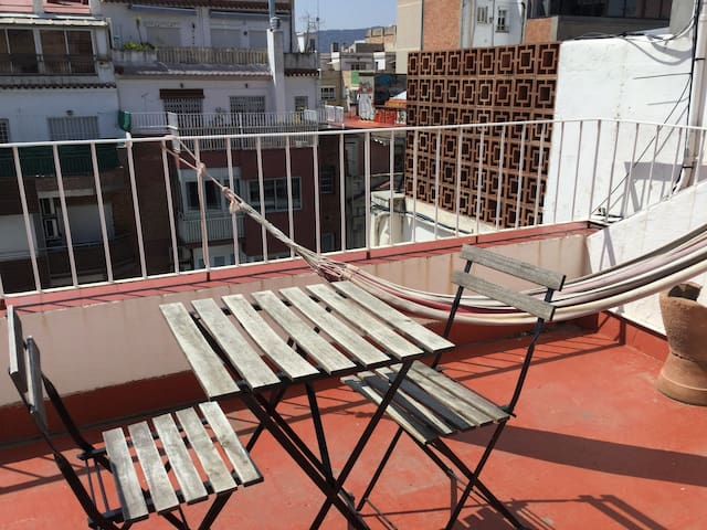 Private terrace, with view on Tibidabo and the Mountain