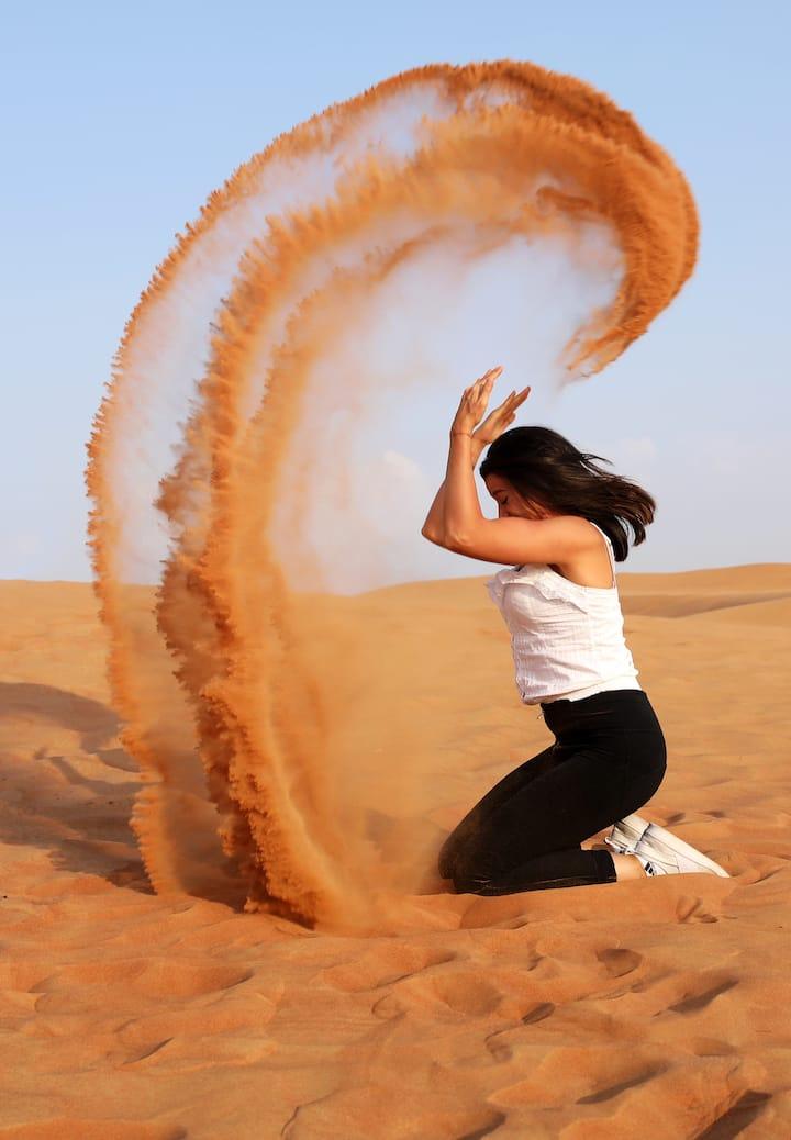 Photostop in desert